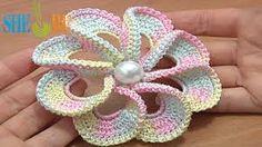 crochet flower pattern tutorial - Google Search
