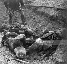 World War I, Corpses of German soldiers in a trench.