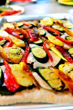 Grilled Vegetable Pizza from Pionner Woman. Hands down, the best pizza I have ever had. I pretty much make this weekly!