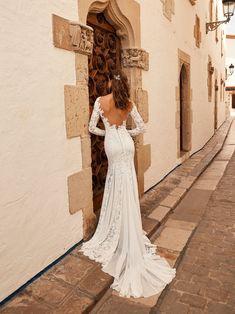 Sheer Wedding Dress, Lace Wedding Dress With Sleeves, Cute Wedding Dress, Lace Mermaid Wedding Dress, Long Sleeve Wedding, Long Wedding Dresses, Mermaid Dresses, Gown Wedding, Lace Sleeves