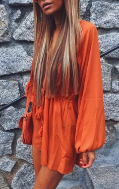 Pin: HEATONMINDED Orange Outfits, Orange Crush, My Favorite Color, Rain Jacket, Windbreaker, Old Things, Hair, Jackets, Clothes