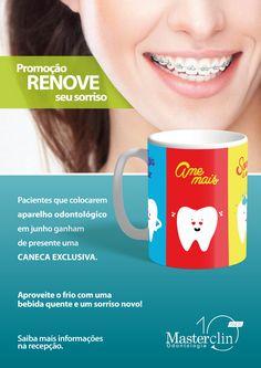 Campanha criada pela Agência Conceito para o cliente Masterclin Odontologia.