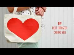 Smooth Heat Transfer Material 102 :: heart canvas bag