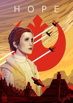 Star Wars Love, Star War 3, Star Wars Fan Art, Star Wars Film, Star Wars Poster, Princesa Leia, Carrie Fisher, Geeks, Star Wars Brasil