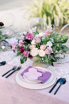 Inspired By This Dreamy Lavender & Blush Wedding Inspiration Geometric Cake, Geometric Wedding, Wedding Table Centerpieces, Reception Decorations, Spring Wedding, Wedding Day, Wedding Reception, Classic Wedding Inspiration, Ivory Roses