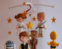 Baby Felt Mobile Star Wars Mobile Nursery Decor by feltcutemobile