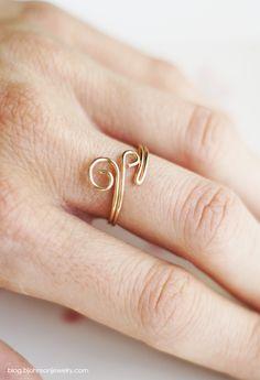 DIY // Swirl Ring | Bettina's Blog - Everything handmade