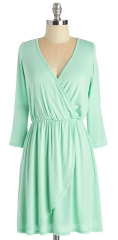 Mint Dress with 3/4 sleeves