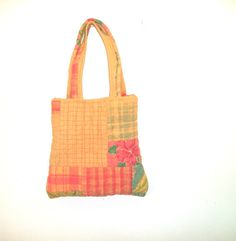 Eco Friendly QuiltedTote Bag Carry All by FabricDivaLady on Etsy, $26.00
