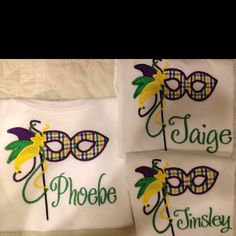 Mardi Gras Shirts maybe for Sophie....