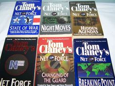 6 Tom Clancy PB Net Force Books Night Moves State of War Breaking Point + More