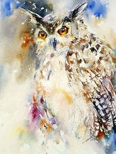 Buy Oleg the Owl, Watercolor by Arti Chauhan on Artfinder. Discover thousands of other original paintings, prints, sculptures and photography from independent artists.