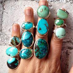 Jamie Joseph turquoise rings