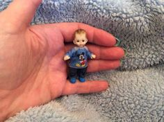 Tiny Dolls, Ooak Dolls, Cute Dolls, Dollhouse Dolls, Miniature Dolls, Dollhouse Miniatures, Realistic Baby Dolls, Polymer Clay Figures, Clay Baby
