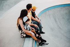 Family photos at the skatepark.  Rocio Rivera Photography