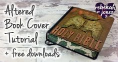 Learn how to create an altered book cover, as we look at God and the Word, in this final of a year long free weekly Bible Art Journaling Challenge!