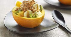 Aprende a preparar Naranjas rellenas de frutas, cereales y Dulce de Leche con las recetas de Nestle Cocina. Elabórala en casa con nuestro sencillo paso a paso. ¡Delicioso! #NestleCocina