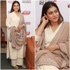 Yay or Nay : Kajol in Anjul Bhandari Salwar Designs, Blouse Designs, Indian Attire, Indian Wear, Indian Designer Outfits, Designer Dresses, Indian Dresses, Indian Outfits, Indian Fashion