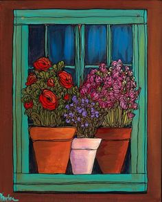painting on old windows | Art and Critique: Dee Sanchez: Old Window
