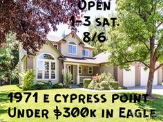 Beautiful home in a park-like setting! Open House Sat. 8/6!