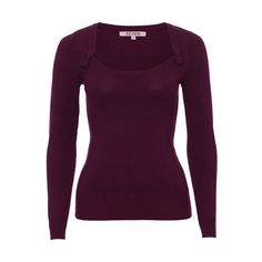 Hayworth Bow Jumper in Wine ($59) ❤ liked on Polyvore featuring tops, sweaters, bow top, purple sweater, wine top, jumpers sweaters and bow sweater