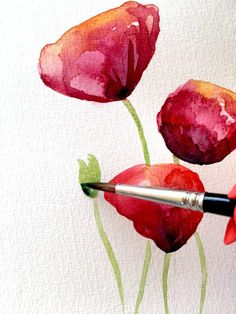 Aquarell: Geballter Blumenblätter-Regen Here you can see how Dodo paints a green leaf with watercolor paints. French Art, Art Deco Fashion, Diy Paper, Easy Drawings, Pin Collection, Trip Planning, Watercolor Paintings, Watercolors, Blog