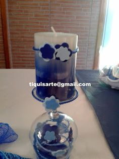 TiquisArte: Primera comunión Mugs, Tableware, Blue And White, Blue Nails, First Holy Communion, Dinnerware, Tumbler, Dishes, Mug