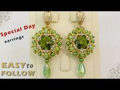 DIY beautiful earrings tutorial - YouTube