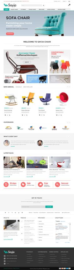 Sayja is a sleek responsive Prestashop theme for multipurpose eCommerce website. It has 4 stunning homepage styles. #furniture #interior #shop Download Now!