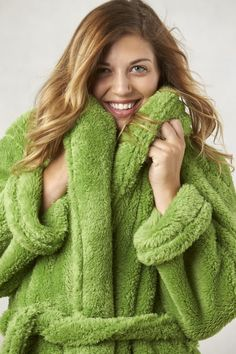 Plush mens and womens robes in furry Extra-Fluffy plush fabric. de81c9c25