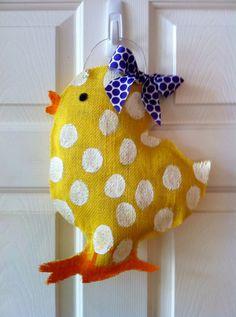 Easter Burlap Door Hanger by 2CreativeGirls on Etsy, $20.00