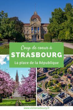 Notre coup de coeur : emblème du quartier de la Neustadt, classé au patrimoine mondial de l'UNESCO ! La place de la République est une place grandiose, majestueux témoignage de l'architecture allemande de la fin du 19e siècle. Tourist Board, Unesco, Strasbourg, Coups, Place, Taj Mahal, Tourism, Mansions, Architecture