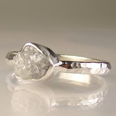 Rough diamond ring.  Very pretty.