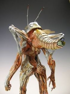 insect person - back view Alien Concept Art, Creature Concept Art, Creature 3d, Creature Design, Alien Creatures, Fantasy Creatures, Character Art, Character Design, Monster Design