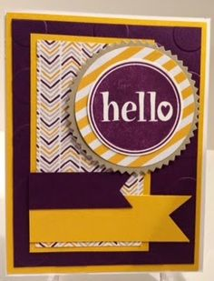 Stampin' Up! MissyJ 2014 #hello Blackberry Bliss & Moonlight Paper Stack