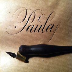 Some Copperplate Calligraphy by Ramiro Espinoza