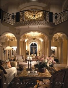 Marc-Michaels Interior Design mediterranean living room