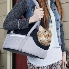 Luxury cat carrier handbag - Buy now at https://www.catcarrierstore.com/collections/featured-cat-carriers/products/airline-approved-luxury-handbag?variant=61134280011