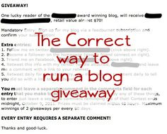 The correct and LEGAL way to run a blog #giveaway #sweepstakes