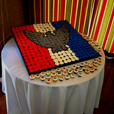 Eagle Scout Court of Honor; those are cupcakes! So cool