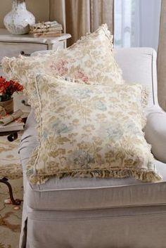 Flora Euro Sham - Floral Print Bed Sham, Linen Sham | Soft Surroundings