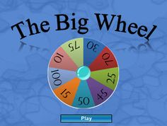 """""""Wheel of Fortune"""" Review Game (answer Qs, spin wheel to see how many pts earned)"""