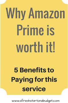 Here are the 5 benefits I've found to getting Amazon Prime. This is why Amazon Prime is worth it to my family. You end up making up the cost with savings.