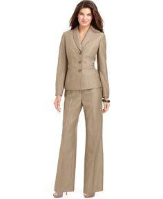 Le Suit Suit, Printed Shantung Jacket & Skirt - Womens Suits ...