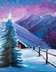 image result for simple christmas paintings