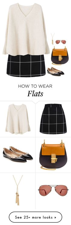 """""""#3647"""" by azaliyan on Polyvore featuring WithChic, MANGO, Valentino, Chloé, Carol Dauplaise Jewelry and Ray-Ban"""
