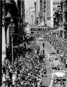 The Giants were welcomed to San Francisco with a parade on May 20, 1958.