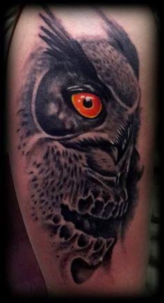 ideas about Owl Skull Tattoos on Pinterest   Bird skull tattoo Tattoo ...
