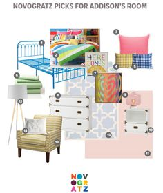 Big Girl Room Design Board by Novogratz