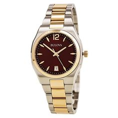 Bulova Womens 98M119 Diamond Gallery Analog Display Japanese Quartz Two Tone Watch *** More info could be found at the image url.